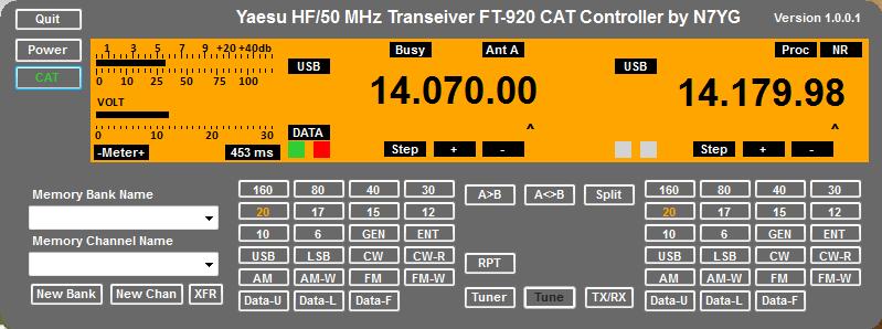 FT920 CAT Controller